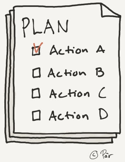 An action plan makes goals attainable